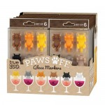 Paws Off™ Glass Markers (Set of 6) by TrueZoo