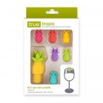 Pineapple Charms And Bottle Stopper by True