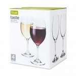 Taste  Set of 4 Red And White Tasting Glass by True