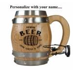 Beer Personalized Barrel Mug