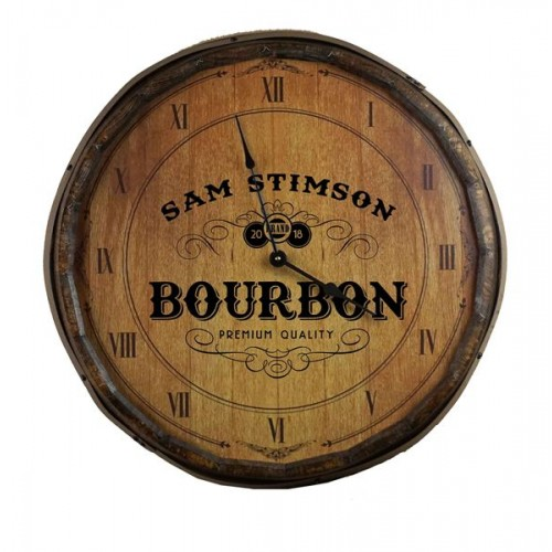 Bourbon Quarter Barrel Clock