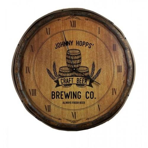 Brewing Co. Quarter Barrel Clock