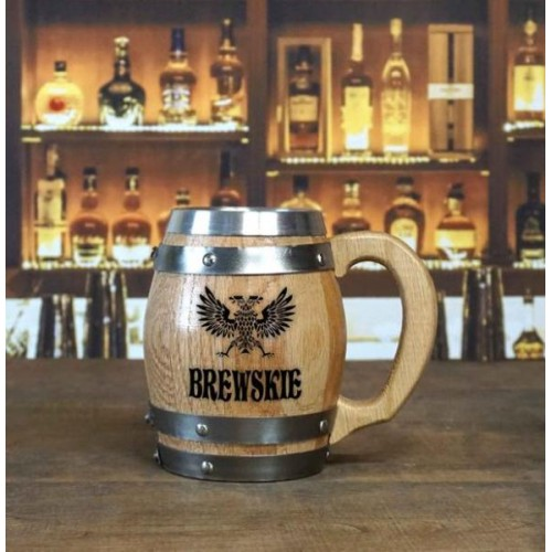 Brewskie Personalized Barrel Mug