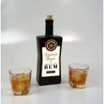 Captain Sam's Black Glass Bottle