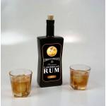 Caribbean Rum Black Glass Bottle