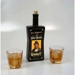 Cheeky Bugger' Black Glass Bottle