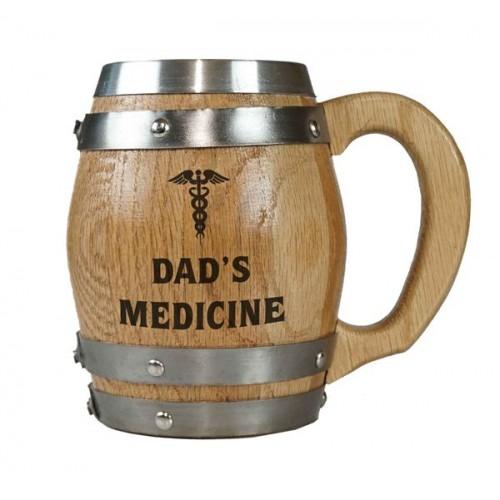 Dad's Medicine Barrel Mug Barrel Mug