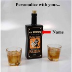 Dueling Jesters Black Glass Bottle