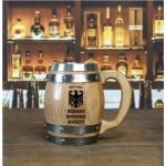 German Drinking Society Barrel Mug