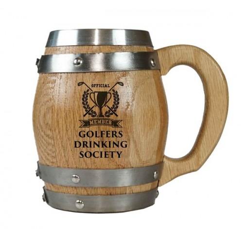 Golfers Drinking Society Barrel Mug