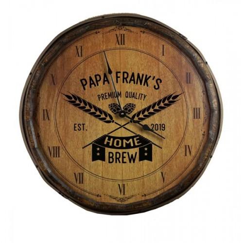 Home Brew Quarter Barrel Clock
