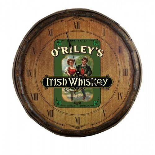 Irish Whiskey Quarter Barrel Clock