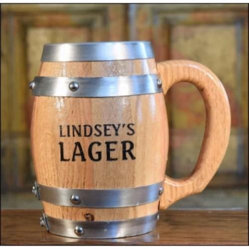 Lager Personalized Barrel Mug