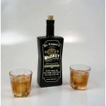 Medicinal Whiskey Black Glass Bottle