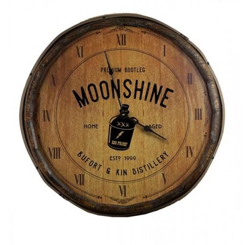 Moonshine Quarter Barrel Clock
