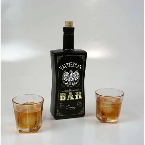Neighborhood Bar Black Glass Bottle