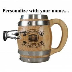 Pale Ale Personalized Barrel Mug