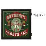 Personalized Baseball Dartboard & Cabinet Set