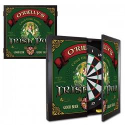 Personalized Beer Girl Irish Pub Dartboard & Cabinet Set