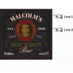 Personalized Bourbon Bar Dartboard & Cabinet Set