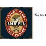 Personalized Brew Pub Dartboard & Cabinet Set