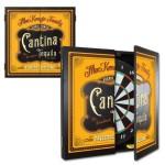 Personalized Cantina Dartboard & Cabinet Set