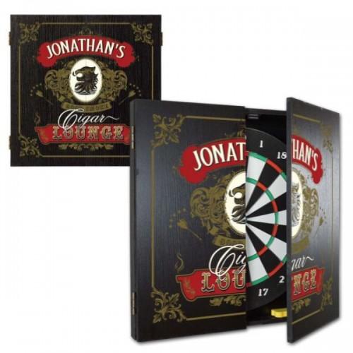 Personalized Casino Dartboard & Cabinet Set