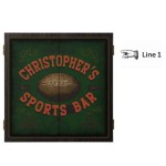 Personalized Football Dartboard & Cabinet Set