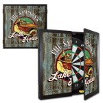 Personalized Lake House Dartboard & Cabinet Set
