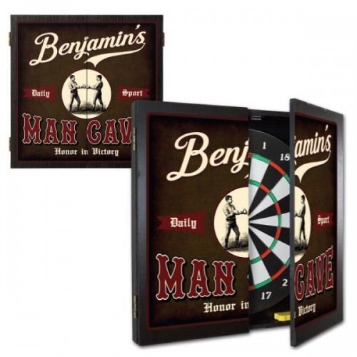 Personalized Man Cave Dartboard & Cabinet Set