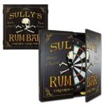Personalized Rum Bar Dartboard & Cabinet Set