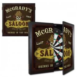 Personalized Saloon Dartboard & Cabinet Set
