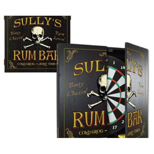 Personalized Scottish Pub Dartboard & Cabinet Set