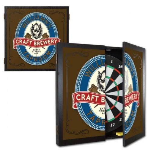 Personalized TaproomDartboard & Cabinet Set