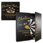 Personalized Vineyard Dartboard & Cabinet Set