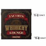 Personalized Whiskey Lounge Dartboard & Cabinet Set