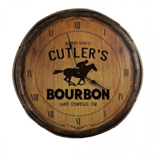 Running Horse Quarter Barrel Clock