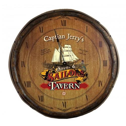 Sailor's Tavern Quarter Barrel Clock