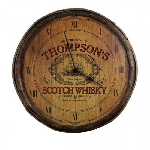 Scotch Whisky Quarter Barrel Clock