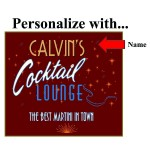 Stars Personalized Martini Set