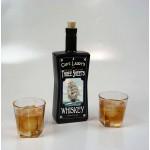 Three Sheets Black Glass Bottle