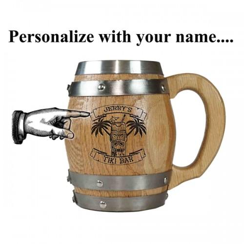 Tiki Bar Personalized Barrel Mug