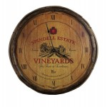 Vineyard Quarter Barrel Clock