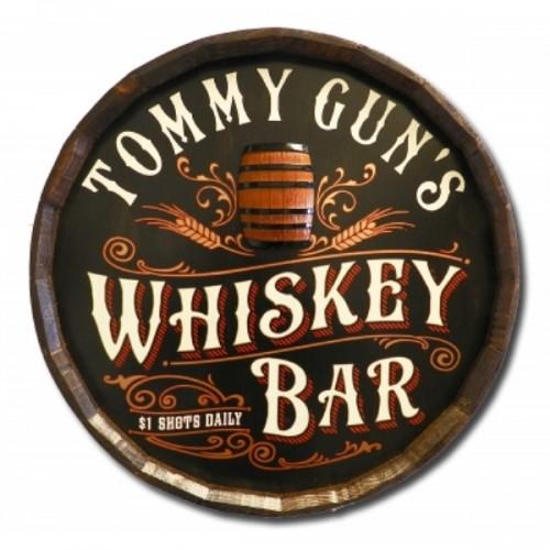 Whiskey Bar Quarter Barrel W/ Relief