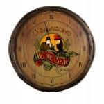 Wine Bar Quarter Barrel Clock