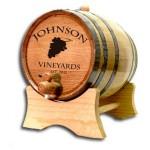 Wine Grapes Custom Barrel