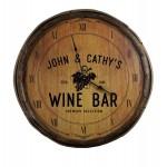 Wine Grapes Quarter Barrel Clock