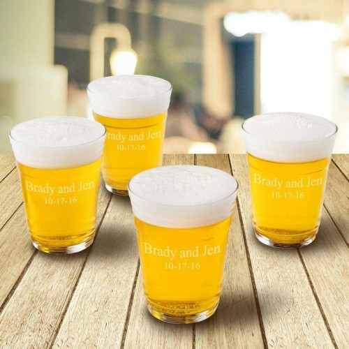 Beer Cup Glasses - Set of 4