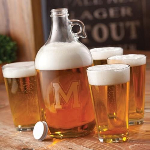 Glass Beer Growler Set
