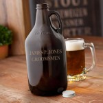 Personalized Amber Growler - 64 oz